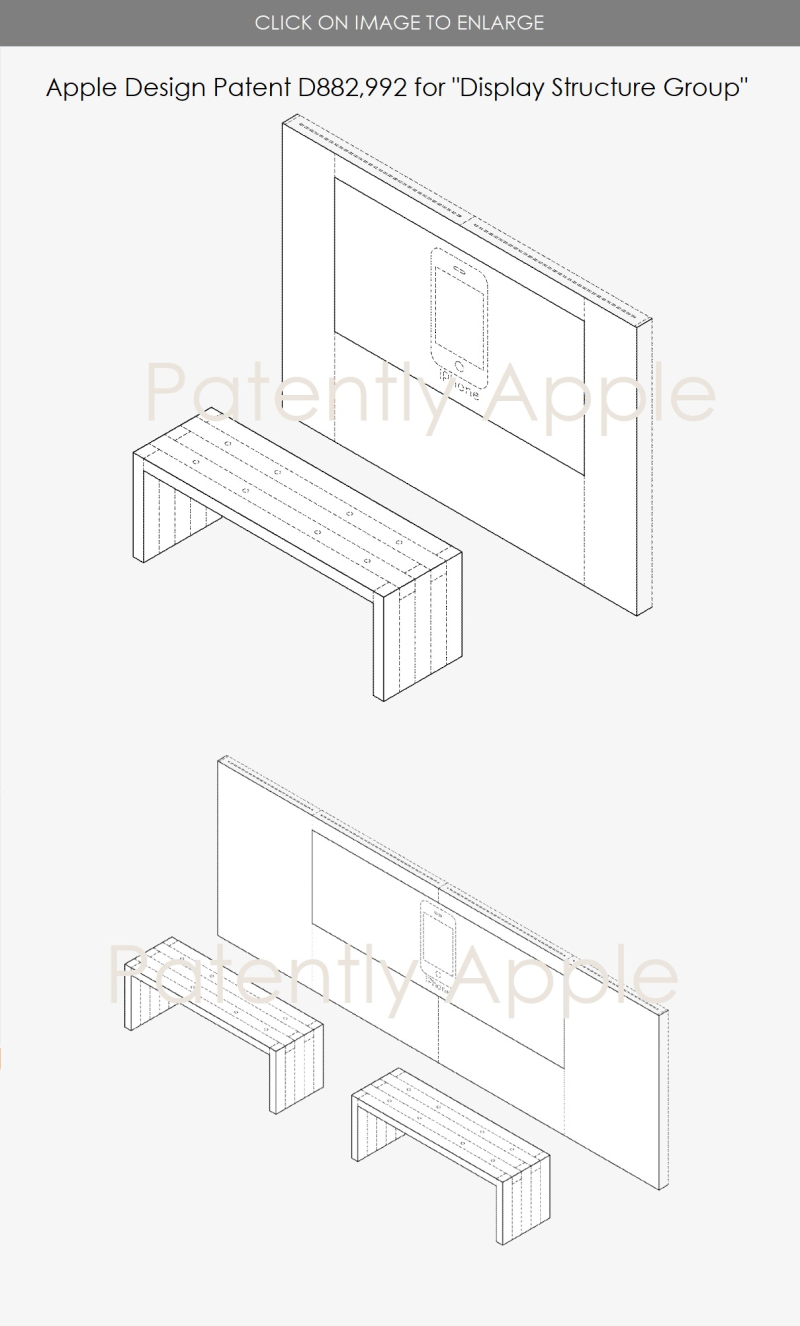 7 Apple design patent for Apple Store Display Group