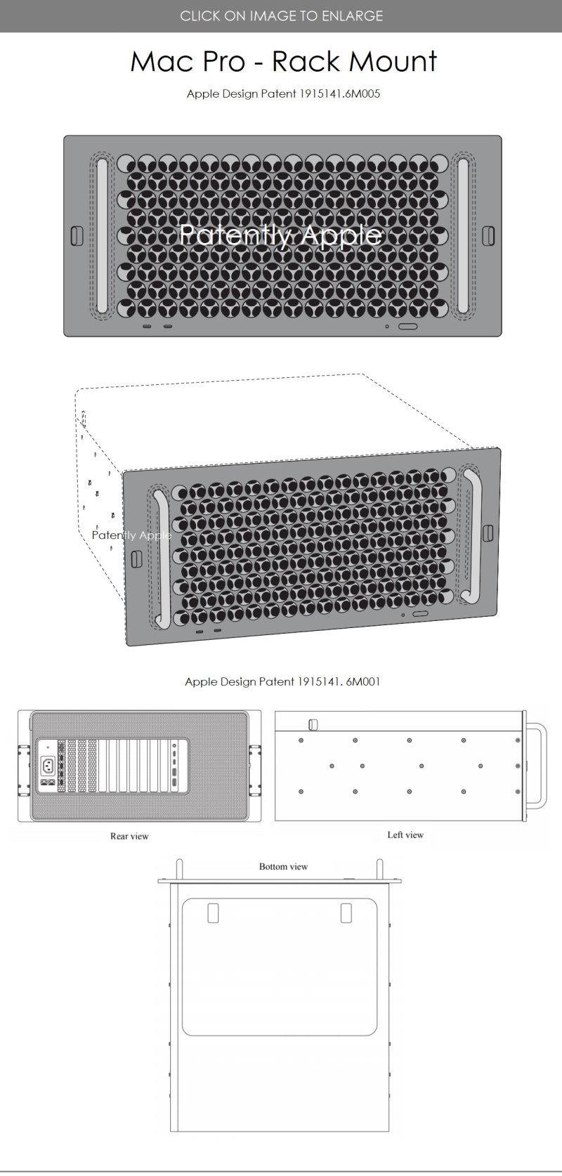 2 Apple design patents for Mac Pro - Rack Mount