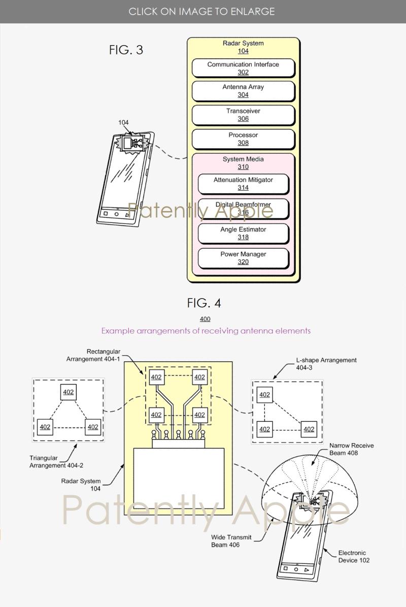 4 x Google patent figs 3 and 4 radar