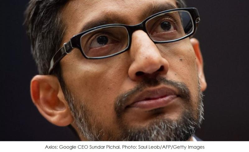 1  x cover Google's CEO Sundar Pichai
