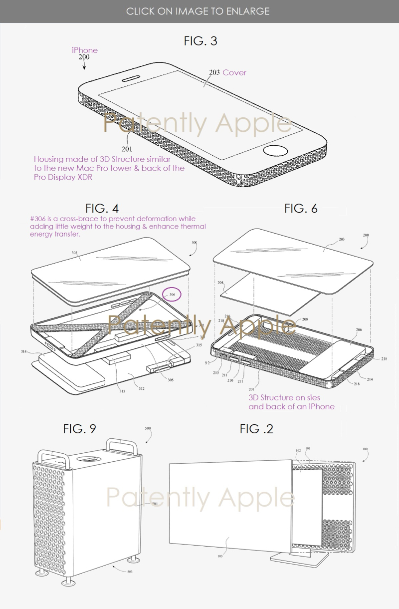 2 Apple iPhone with next-gen 3D housing structure