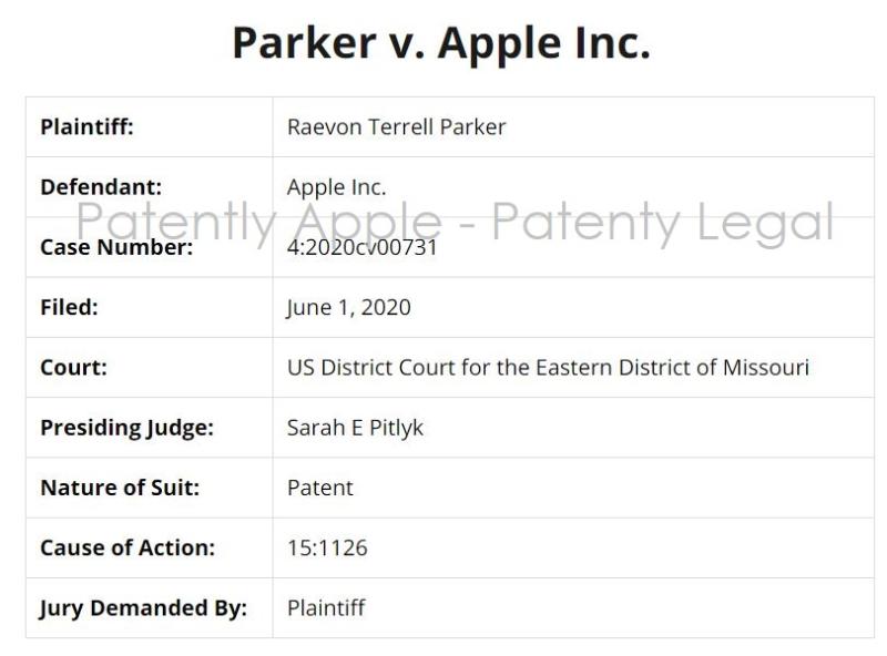 2 x Parker v. Apple