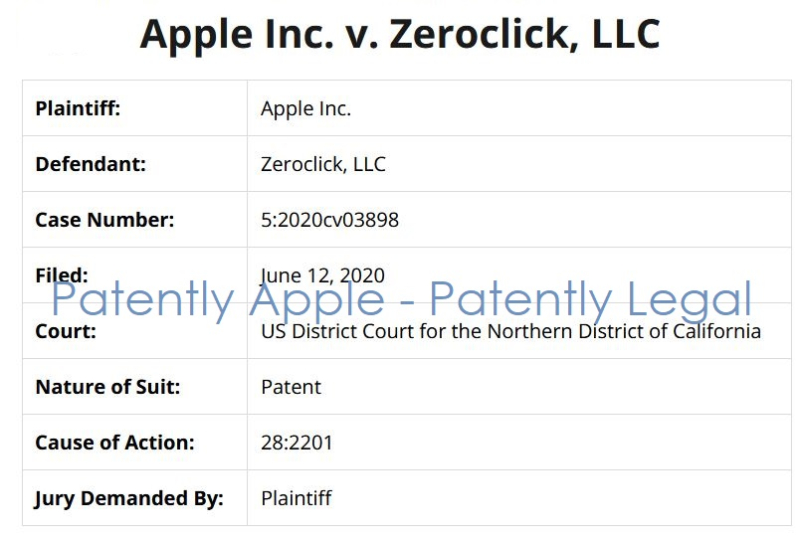 2 Apple v Zeroclick LLC