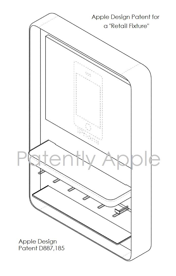 7 Apple Retail Fixture design patent D887 185