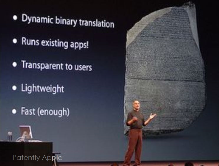 4 Steve Jobs introducing Rosetta for PowerPCs