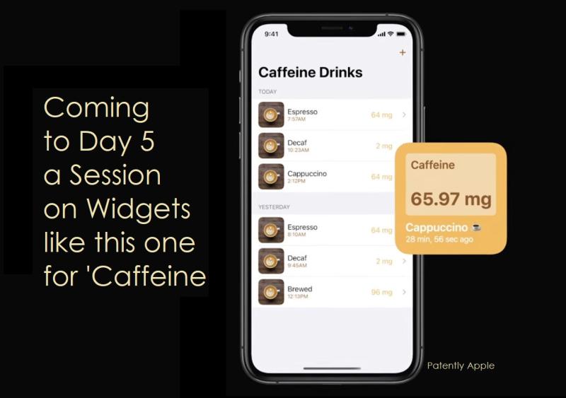 3 x Widgets - CAFFEINE