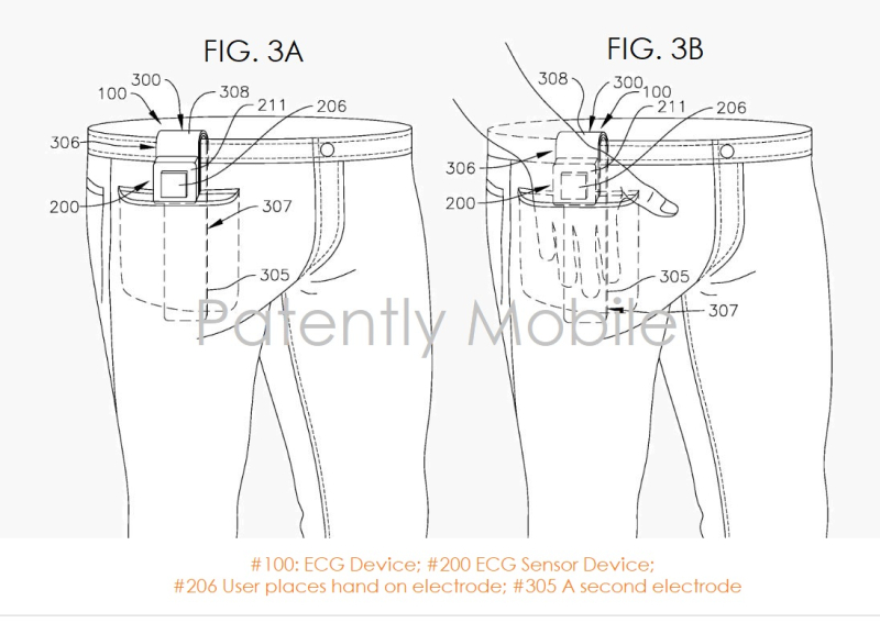 5 xfinal - samsung patent for Special ECG device beyond a watch