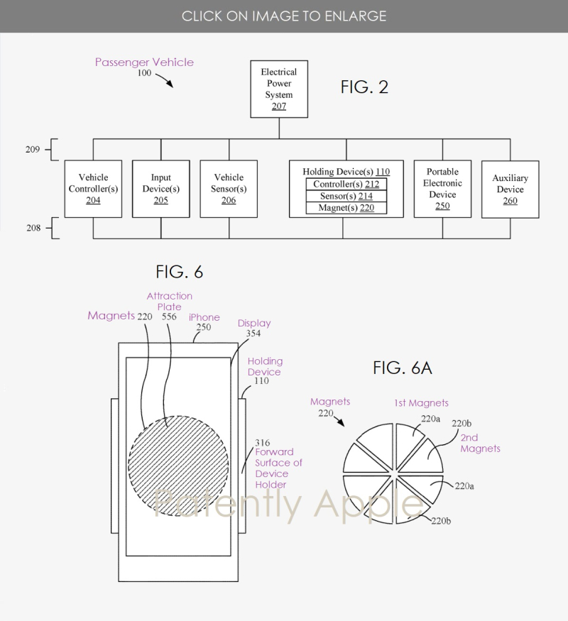 2 iPhone car holder device patent