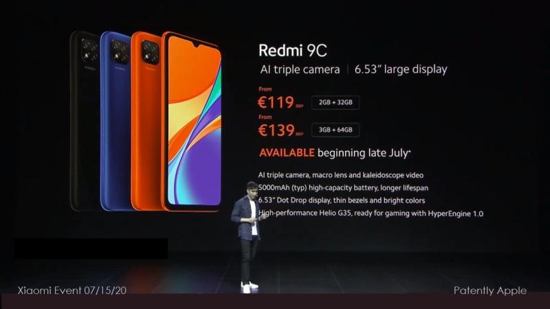 5C- - edmi 9c starting 119 euros  139 for dble storage 64gb
