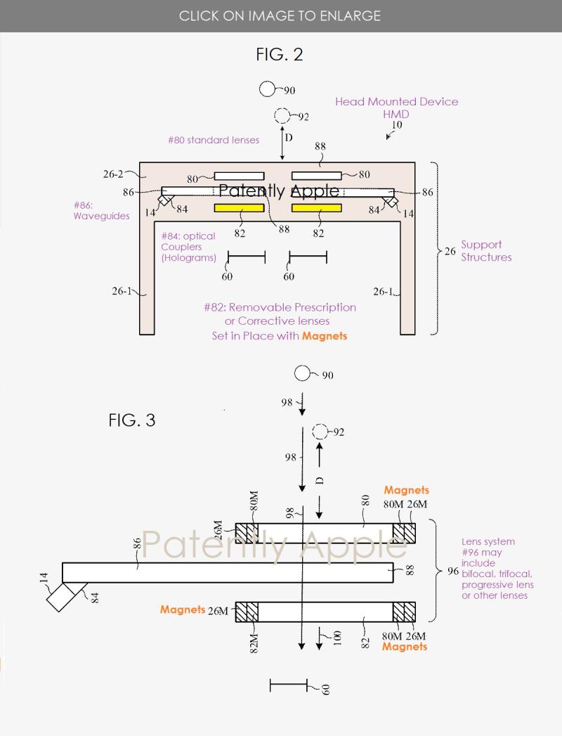 2 x Apple's HMD  Corrective - prescription lens system with magnets