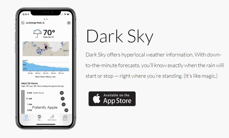 3 x apple  dark sky  app store