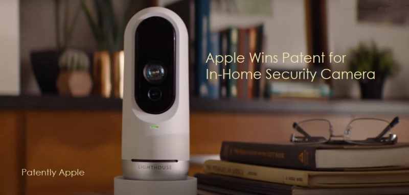 1 x Cover security camera system from Lighthouse AI  apple granted patent aug 2020