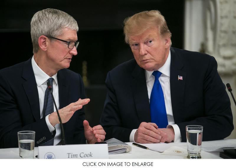 1 x Cover President Trump  Tim Cook on advisory board