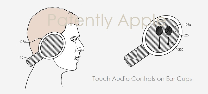 2 x over-ear headphones with audio touch controls