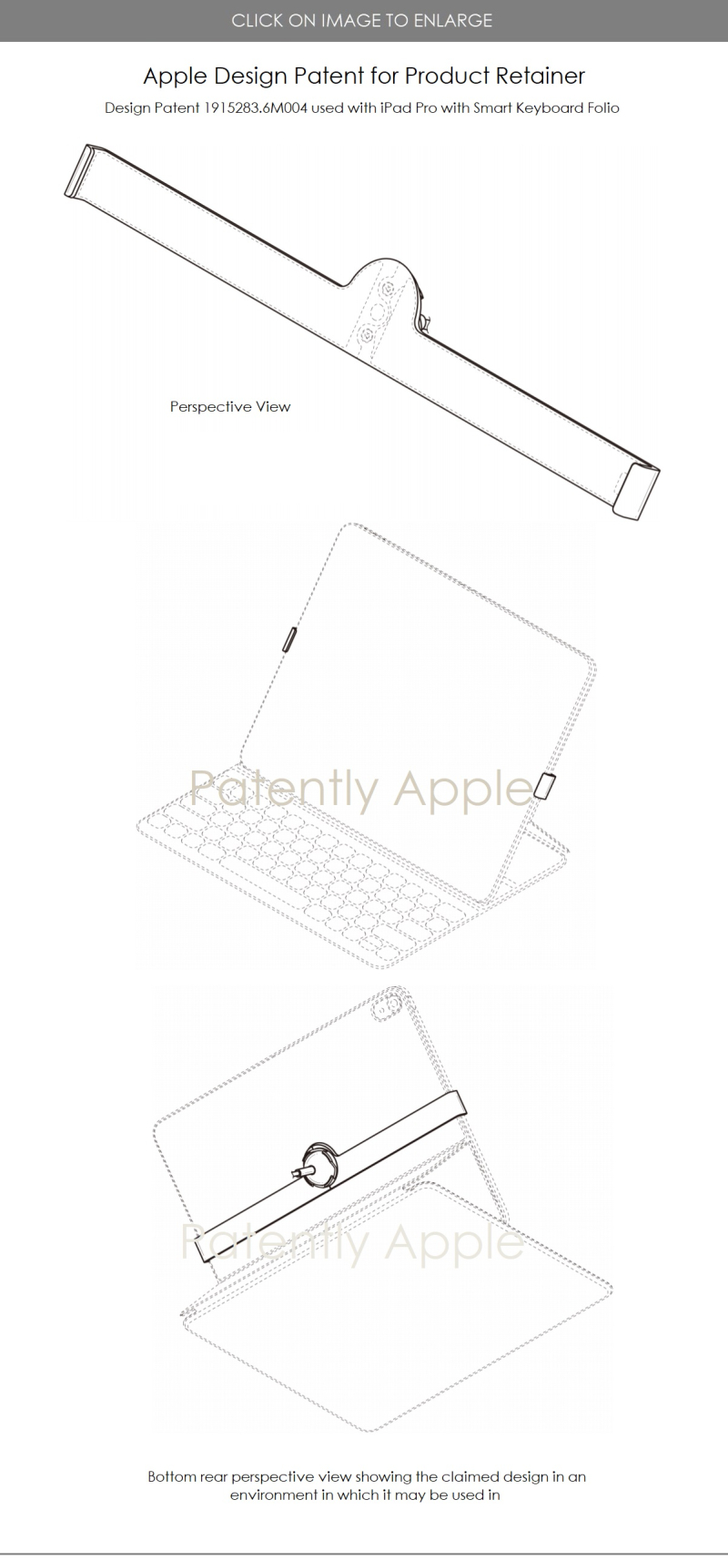 2 apple design patent for 6 retainers including iPhone ...