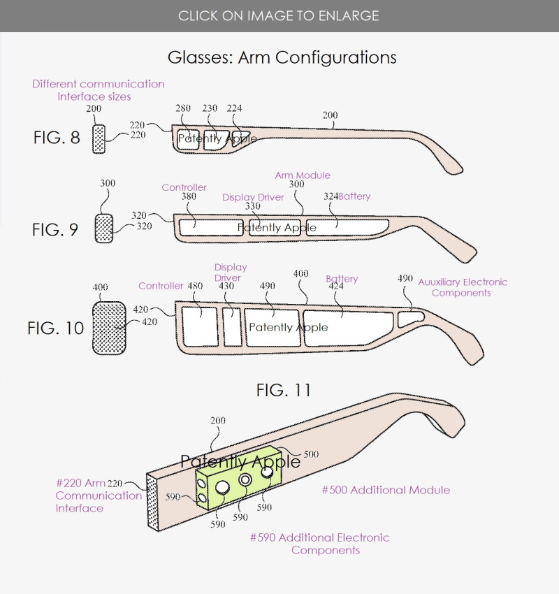 4 - Apple Glasses Arm Configurations