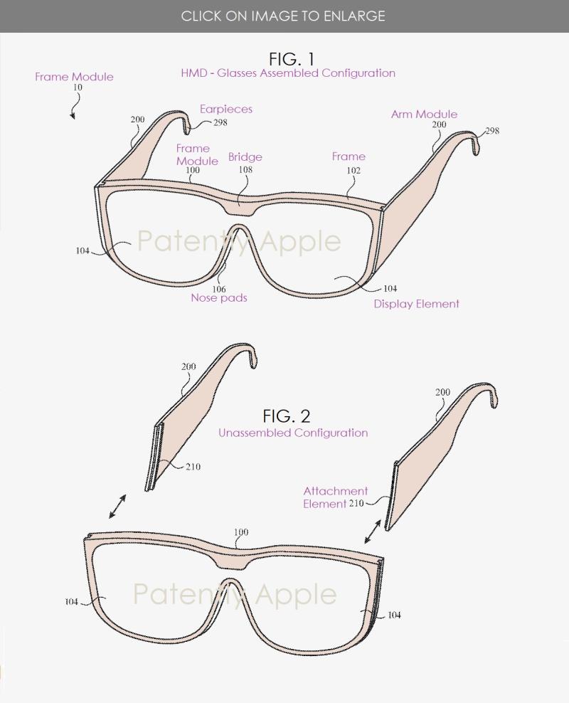 2 patent figs 1 & 2 modular glasses