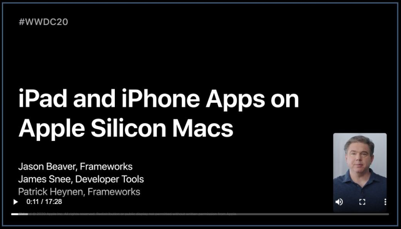 6 . iPad and iPhone Apps on Apple Silicon Macs session
