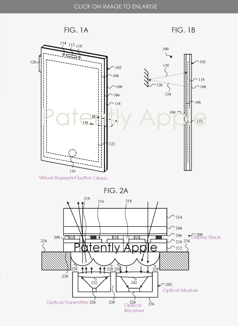 2 - iphone with no notch  optical sensors under display