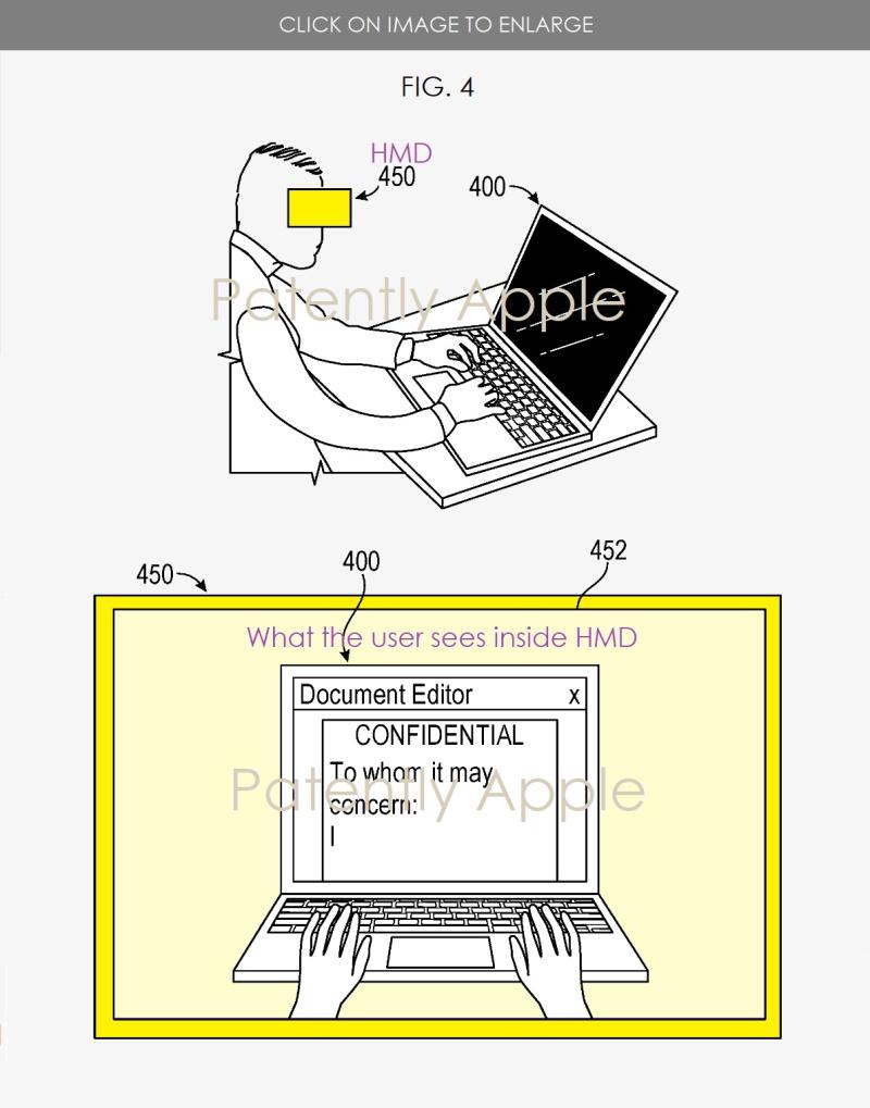 2 fig. 4 Apple HMD privacy mode work