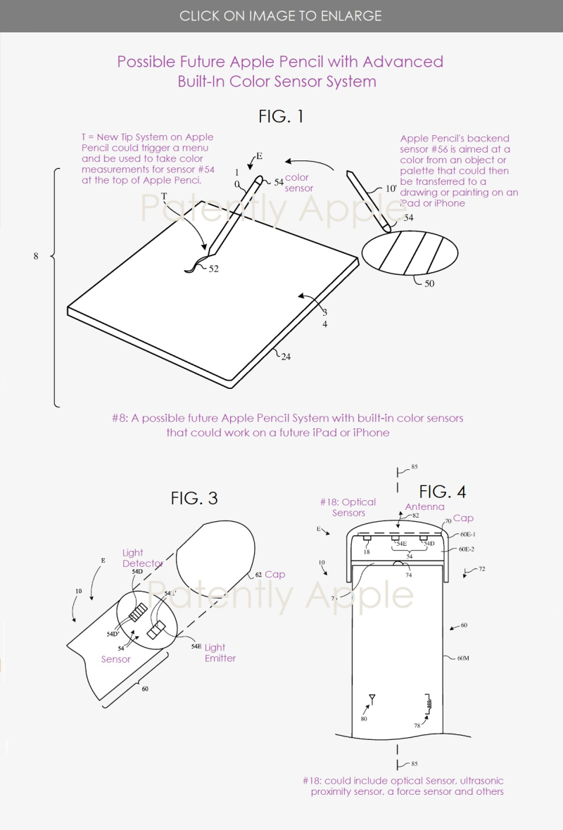 2 Apple Pencil with new color sensor system