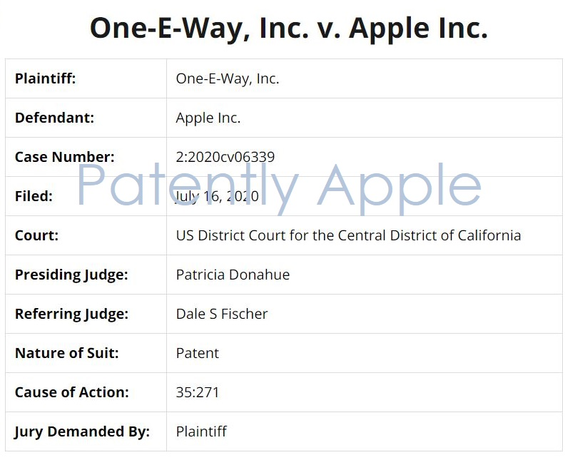 2 one-e-way sues Apple