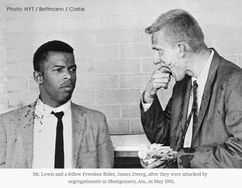 4 x Mr Lewis caught up in the violence in Montegomery Alabama 1961