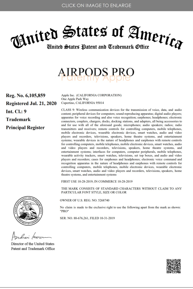 2 AirPods Pro RTM CERTIFICATE JULY 2020