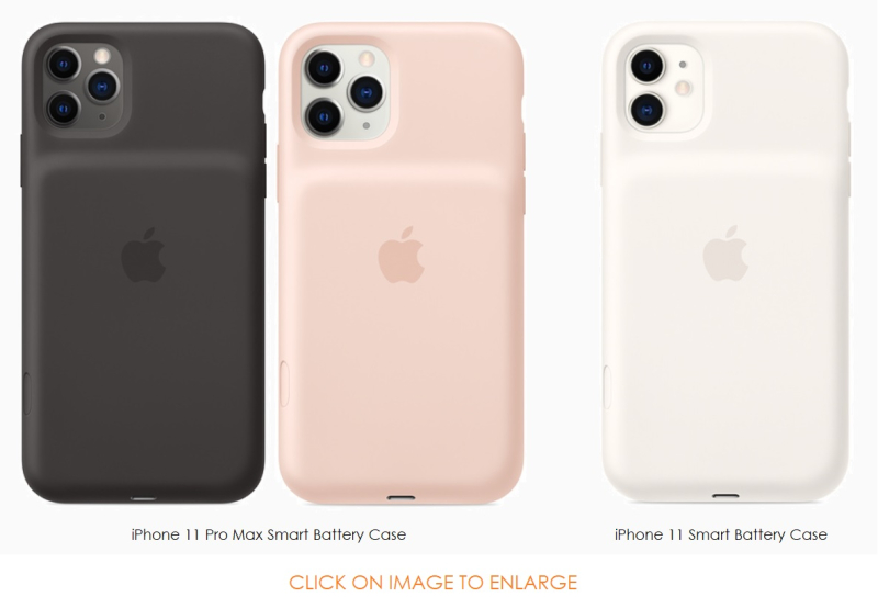 3 iPhone 11 Pro Max smart battery cases