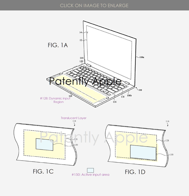 2 x apple dynamic keyboard  virtual trackpad