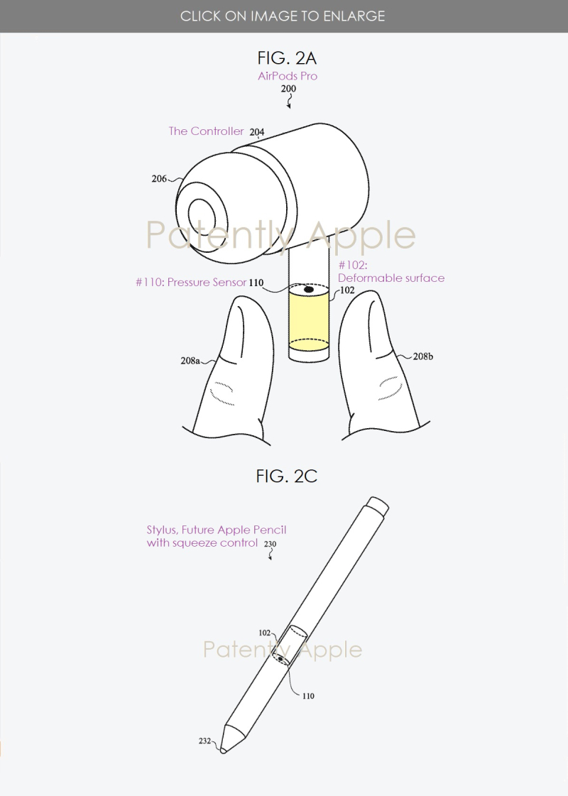 2 AirPods  Apple pencil patent