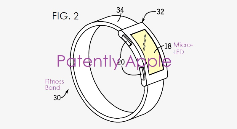 2 Apple patent figure 2  fitness band identified in patent
