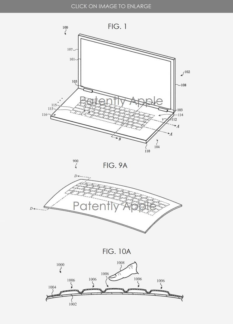 3 macbook granted patent  glass design extends to bottom cover  keyboard area