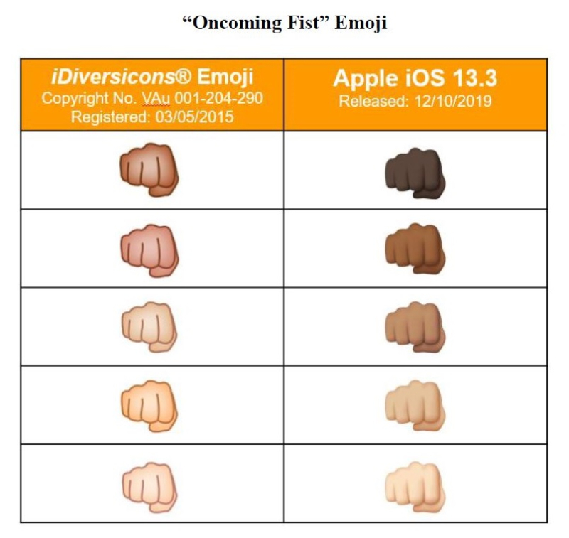 3 comparison fist  apple copied it