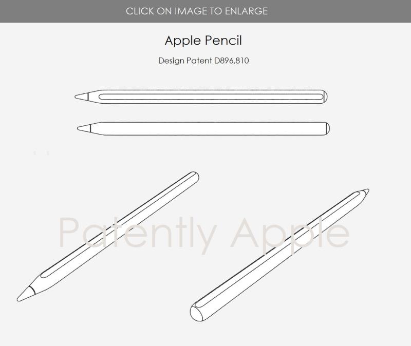 3 Design patent for Apple Pencil