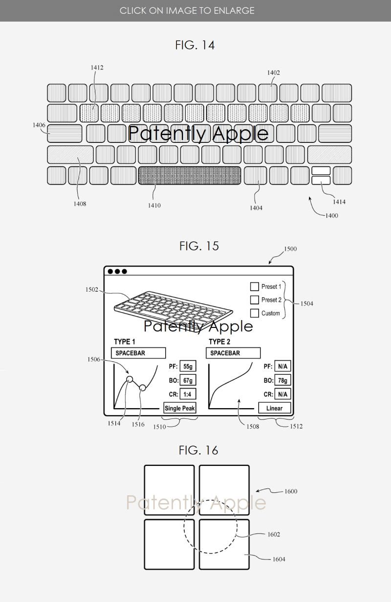 2 customizing the feel of a keyboard and more patent figures sept 27  2020 - PatentlyApple report