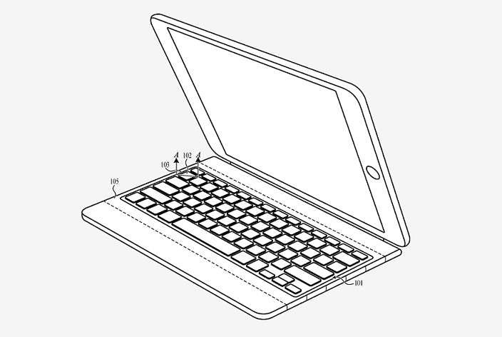 1 cover  Fabric Keyboard for smart iPad keyboard
