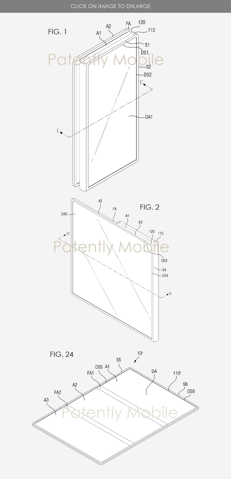 2 - Samsung patent figs 1  2  24 tri-fold phone or tablet
