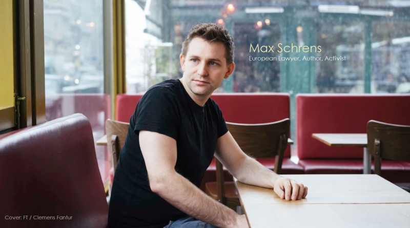 1 x  cover Max Schrems