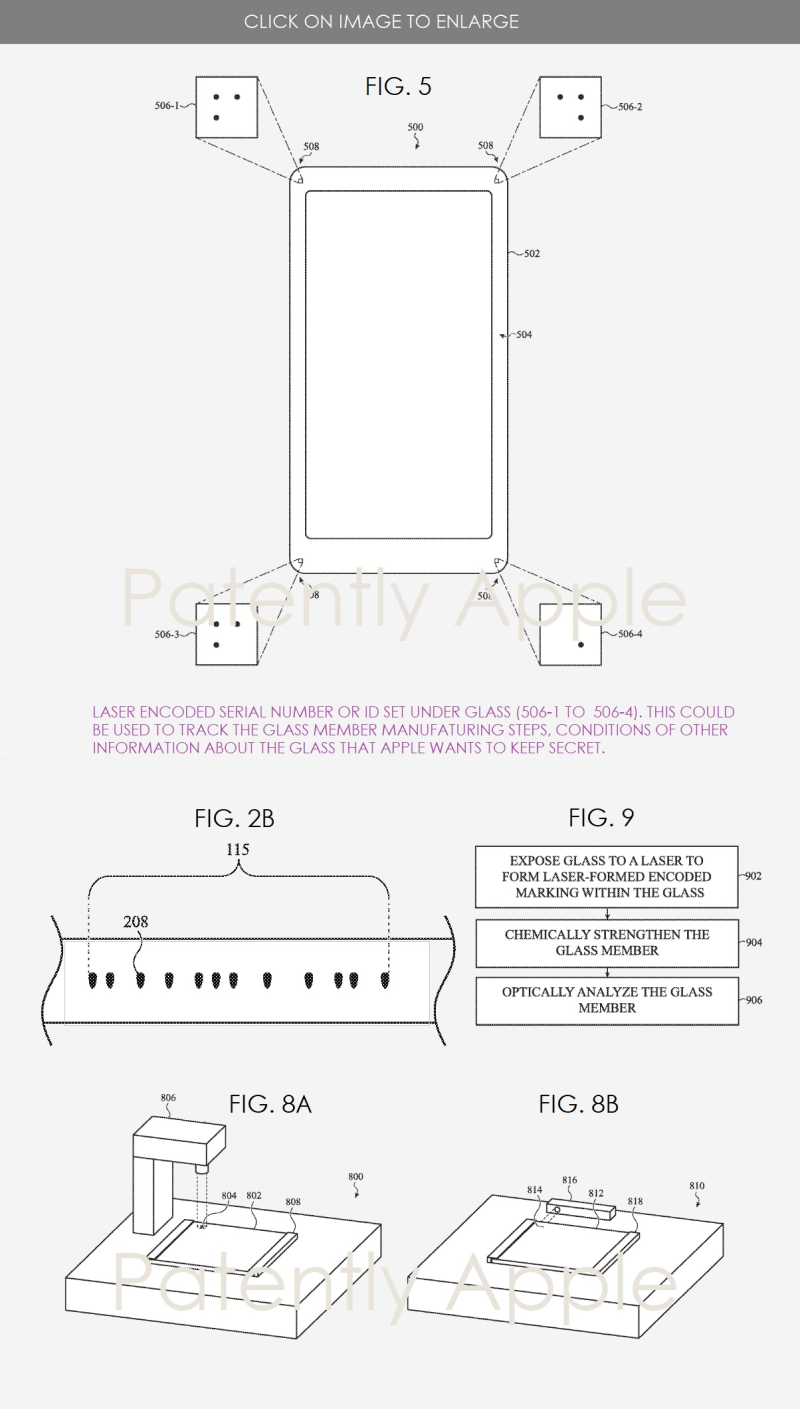 2 Apple places encoding info under glass cover