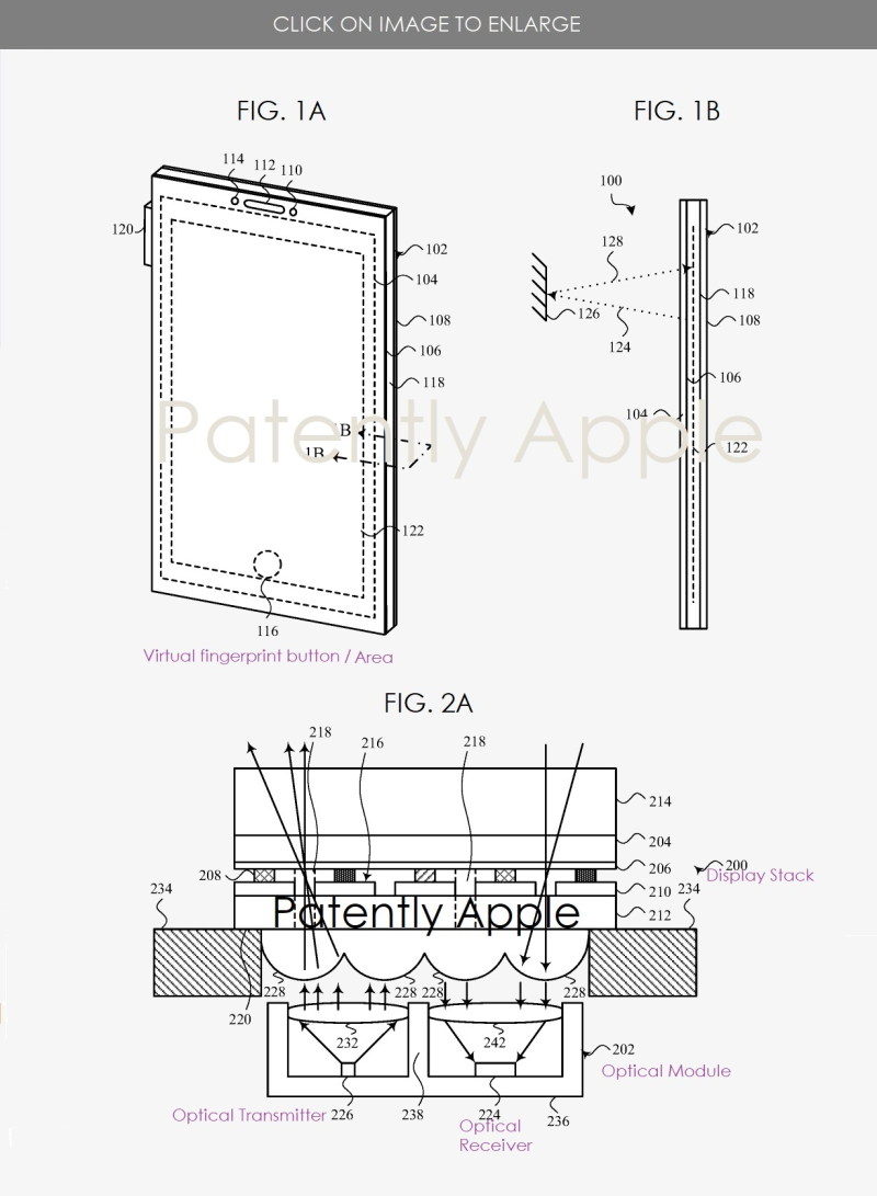 2 -X  iphone with no notch  optical sensors under display