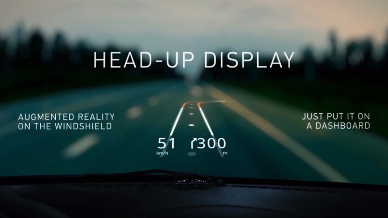 1 x cover heads-up display