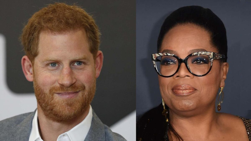 1 x  cover Prince Harry  Oprah