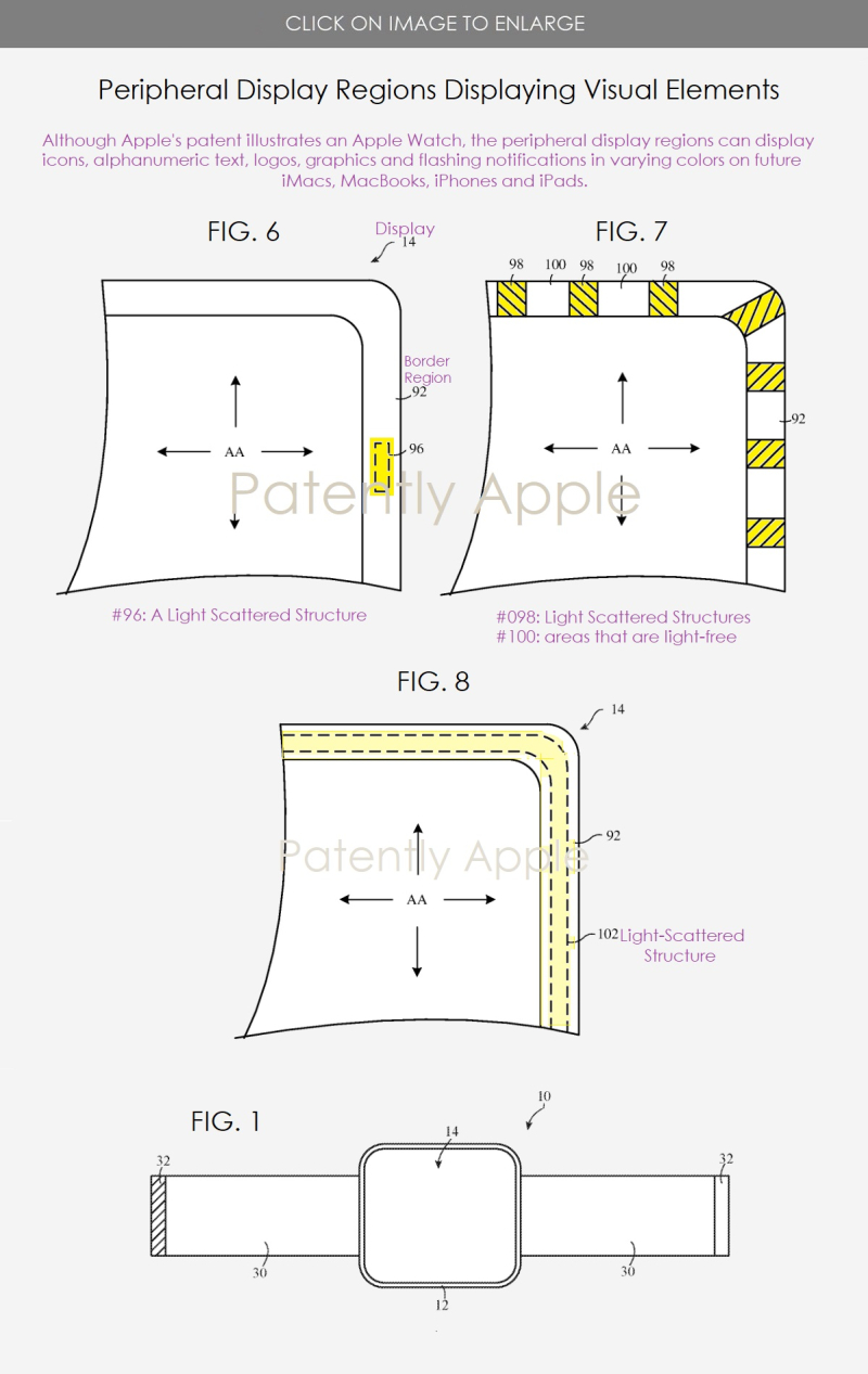 2 x light structures  peripherl display patent figs