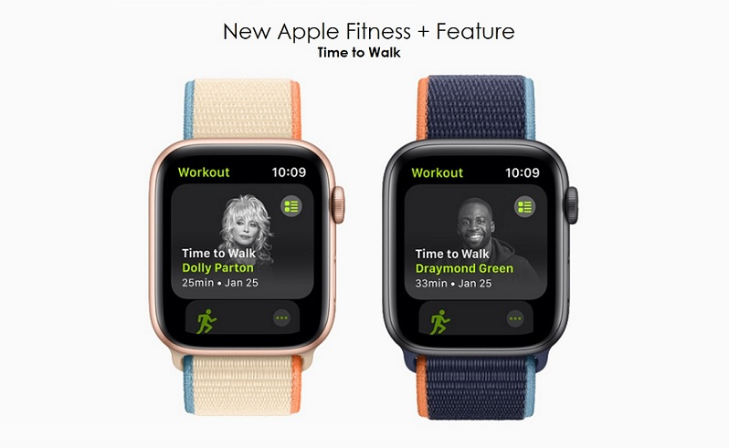 1 x cover - TIME TO WALK  NEW APPLE WATCH  APPLE FITNESS + FEATURE