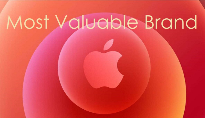 1 x APPLE MOST VALUABLE BRAND
