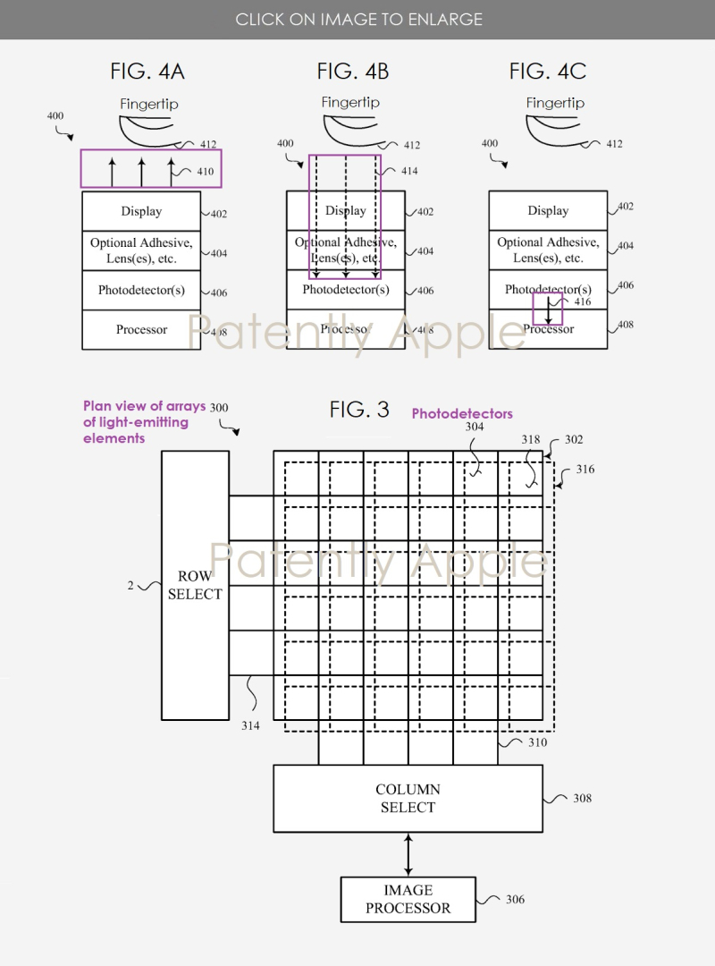 2 Apple patent figure of touch id under the display
