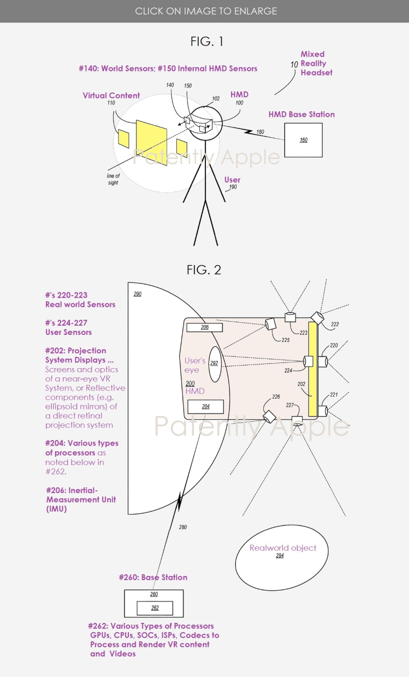 2 Apple granted patent Mixed Reality Headset figures