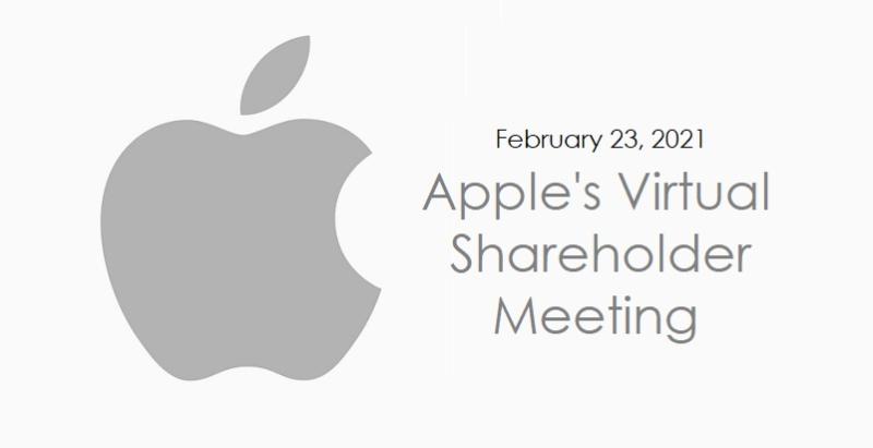 1 XF -  cover  - Apple VIRTUAL shareholder meeting