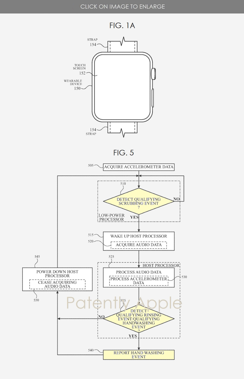 2 Apple Watch patent for washing hands app